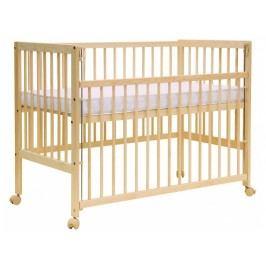 Postýlka k posteli rodičů se stahovací bočnicí, borovice