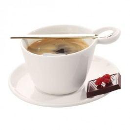 Šálek na espresso s podšálkem + nerez lžička ASA Selection MULTI CUP & SPOON - bílý
