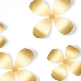 Nástěnná dekorace Umbra Metal Wallflower 9 ks - zlatá