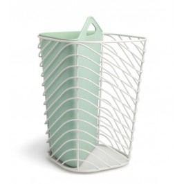 Odpadkový koš Umbra COUPLET - bílý/mintový