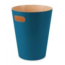 Odpadkový koš Umbra WOODROW - tyrkysový