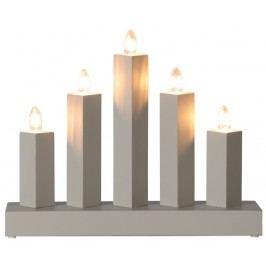 Dekorativní svícen na žárovky STAR TRADING Rak - šedý