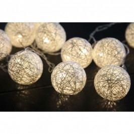 Světelný řetěz s LED osvětlením STAR TRADING Jolly - krémový