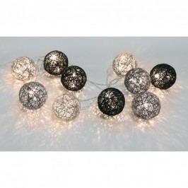 Světelný řetěz s LED osvětlením STAR TRADING Jolly - šedý/černý