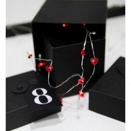 Světelný řetěz s LED osvětlením STAR TRADING Hearts - srdíčka