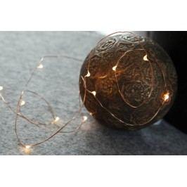 Světelný řetěz STAR TRADING Dew Drop - měděný