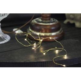 Světelný řetěz STAR TRADING Dew Drop - zlatý