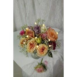 Světelná dekorace do květin STAR TRADING Flowers - perličky