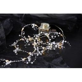 Světelný řetež s perly STAR TRADING Dew Drop - bílý