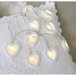 Světelný řetěz se srdíčky STAR TRADING Hearts - bílý