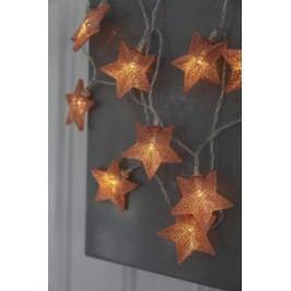 Světelný řetěz s LED osvětlením STAR TRADING Star - měděný