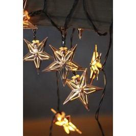Světelný řetěz s hvězdy STAR TRADING Metal Star - měděný