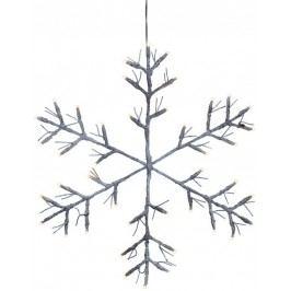 Sněhová vločka s LED osvětlením STAR TRADING Tobby Star - hnědá