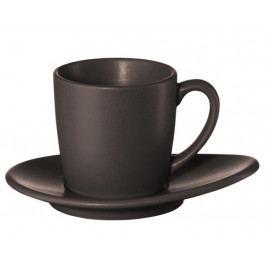 Hrníček na espresso s podšálkem CUBA MARONE ASA Selection - hnědý