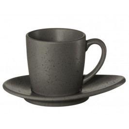 Hrníček na espresso s podšálkem CUBA GRIGIO ASA Selection - šedý