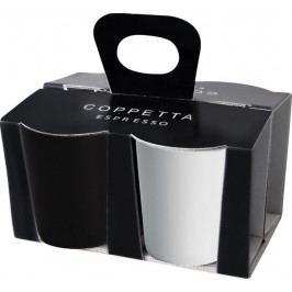 Sada šálků na espresso 4 ks COPPETTA ASA Selection - černá, bílá