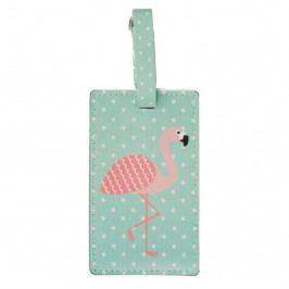 Jmenovka na zavazadlo Sass & Belle Tropical Flamingo