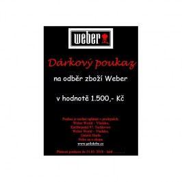 Dárkový poukaz na 1 500 Kč Weber