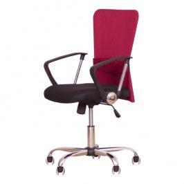 Kancelářské křeslo s černým sedákem, červená opěrka, AEX