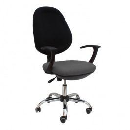Kancelářské křeslo, šedá látka, BOBAN 802