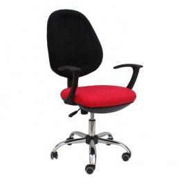 Kancelářské křeslo, červená látka, BOBAN 802