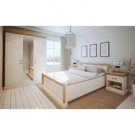 Ložnicová sestava nábytku, sosna bílá nordická, ROYAL
