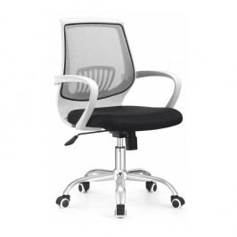Kancelářské křeslo s černým sedákem, šedá opěrka, LANCELOT