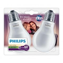 PHILIPS žárovka LED E27; 7W = 60W; 2 ks