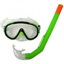 Francis Brýle Cristal Junior + šnorchl Junior zelená
