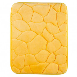 Koupelnová předložka KAMENY žlutá 50 x 80 cm