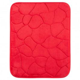 Koupelnová předložka KAMENY červená
