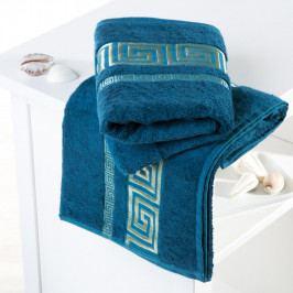 Bambusové ručníky Rome petrolejové sada 4 kusů 50 x 100 cm