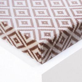 Hermann Cotton Napínací prostěradlo Sebastien mikroplyš béžové 180 x 200 cm