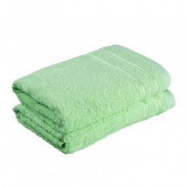 Froté ručníky Nina zelené jablko sada 2 kusů 50 x 100 cm