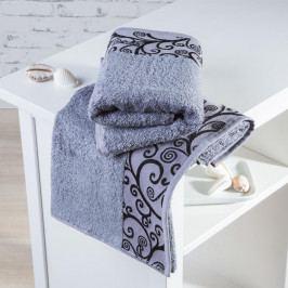 Bambusové ručníky Granada šedé sada 2 kusů 50 x 100 cm