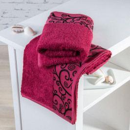 Bambusové ručníky Granada bordó sada 4 kusů 50 x 100 cm