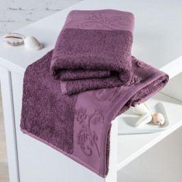 Bambusové ručníky Barcelona fialové sada 2 kusů 50 x 100 cm