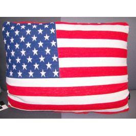 Dekorativní polštář Amerika, 45x60 cm, barevný