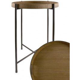 Servírovací stolek Brick, 50 cm, tmavé dřevo