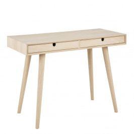 Pracovní stůl 100x45 cm v dekoru dub s bílou pigmentací se zásuvkami DO095