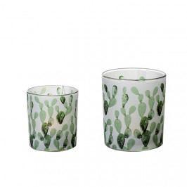 Čajový svícen skleněný Kaktus, 8 cm