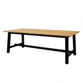 Jídelní stůl 220x95 cm v dekoru dub divoký s černou podnoží DO227
