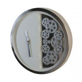 Nástěnné hodiny nerezové Cogs, 39 cm