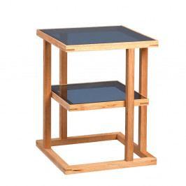 Odkládací stolek Urban, 45 cm, masiv/sklo
