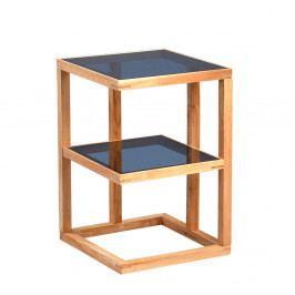 Odkládací stolek Urban, 40 cm, masiv/sklo
