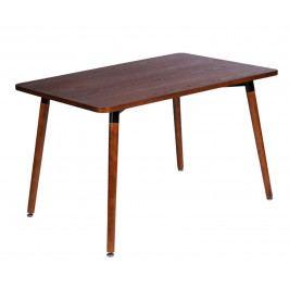 Jídelní stůl 160x80 cm v dekoru ořech na dřevěné podnoži DO120