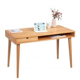 Pracovní stůl 120x60 cm v dekoru buk se zásuvkou DO094