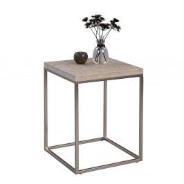 Odkládací stolek Olaf, 40 cm, beton/nerez