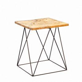 Konferenční stolek teakový Luis, 40 cm
