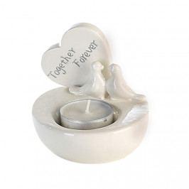 Čajový svícen porcelánový Forever, 9 cm